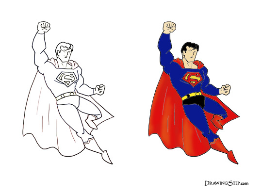 540x400 To Draw Superman Flying