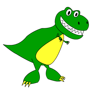 300x300 How To Draw An Easy Cartoon Dinosaur T Rex Learn To Draw