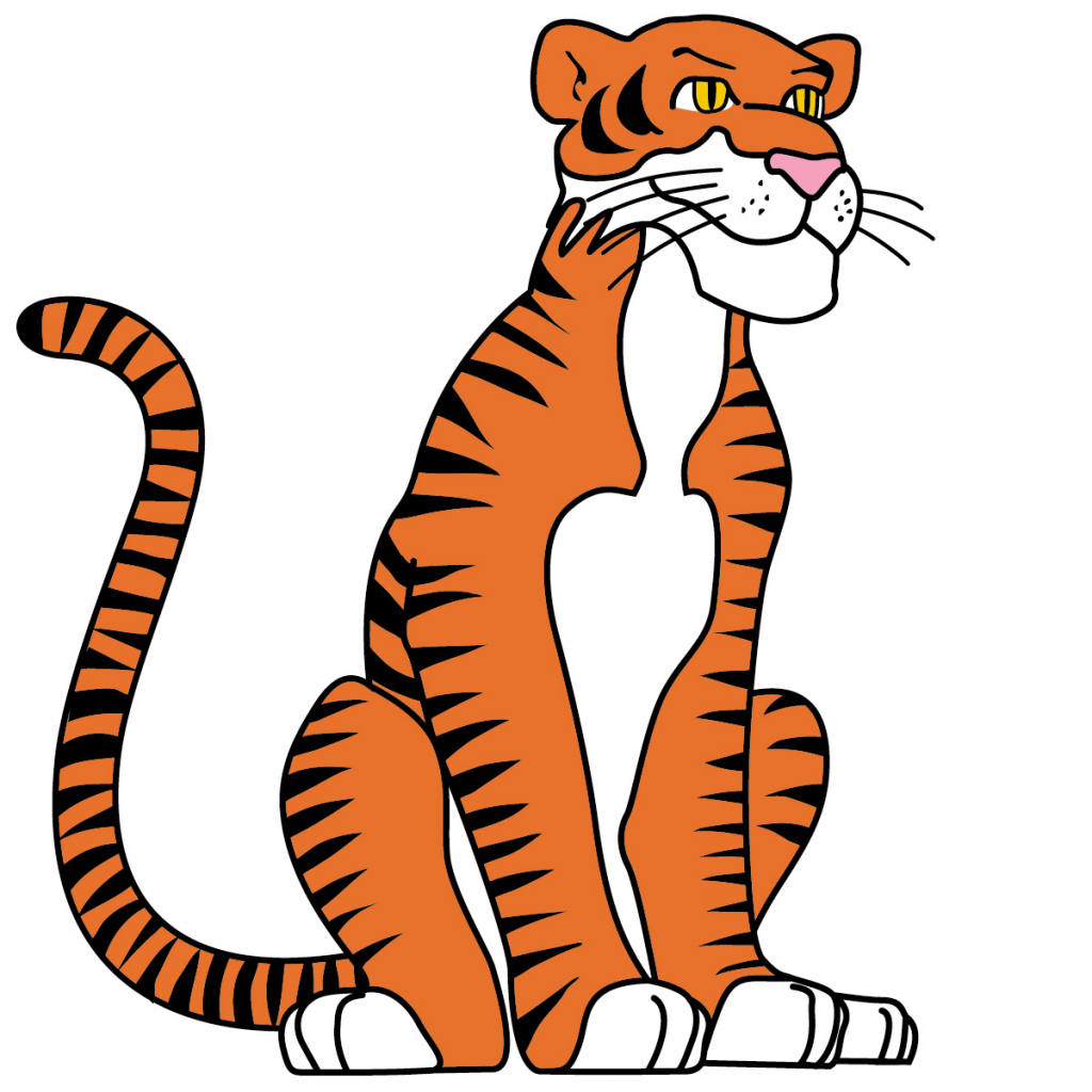 1024x1024 Cartoon Tiger Drawing Cartoon Tiger Drawing How To Draw A Cute