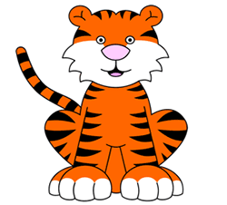 250x226 Cartoon Tigers Step By Step Drawing Lesson