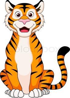 229x320 Cute Tiger Cartoon Sitting Tattoos ) Tigers