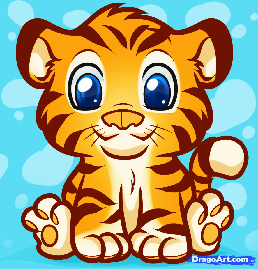 886x924 How To Draw An Anime Tiger, Step By Step, Anime Animals, Anime