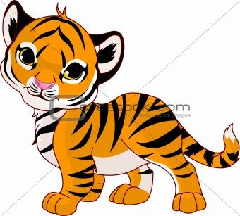 340x307 Cartoon Baby Animals Image 3282598 Walking Baby Tiger