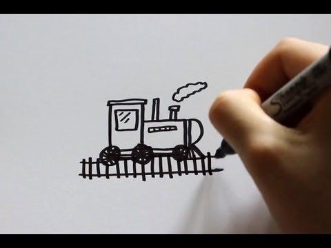 480x360 How To Draw A Cartoon Train