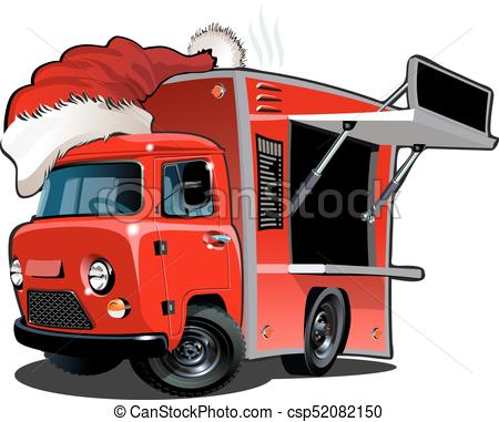 450x381 Cartoon Food Truck Isolated On White Background. Available