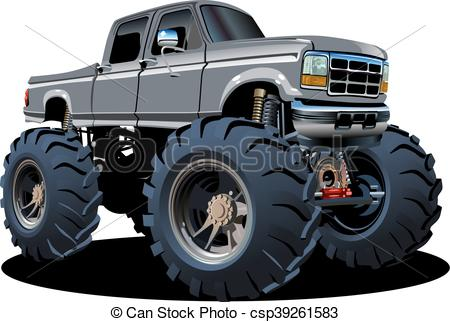 450x322 Cartoon Monster Truck. Available Eps 10 Separated By Groups