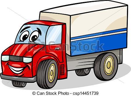 450x328 Funny Truck Car Cartoon Illustration. Cartoon Illustration