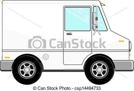 450x306 Small Cargo Truck Cartoon. Illustration Of Small Cargo Truck