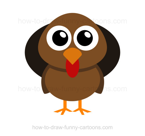 cartoon turkey drawing at getdrawings | free for personal use