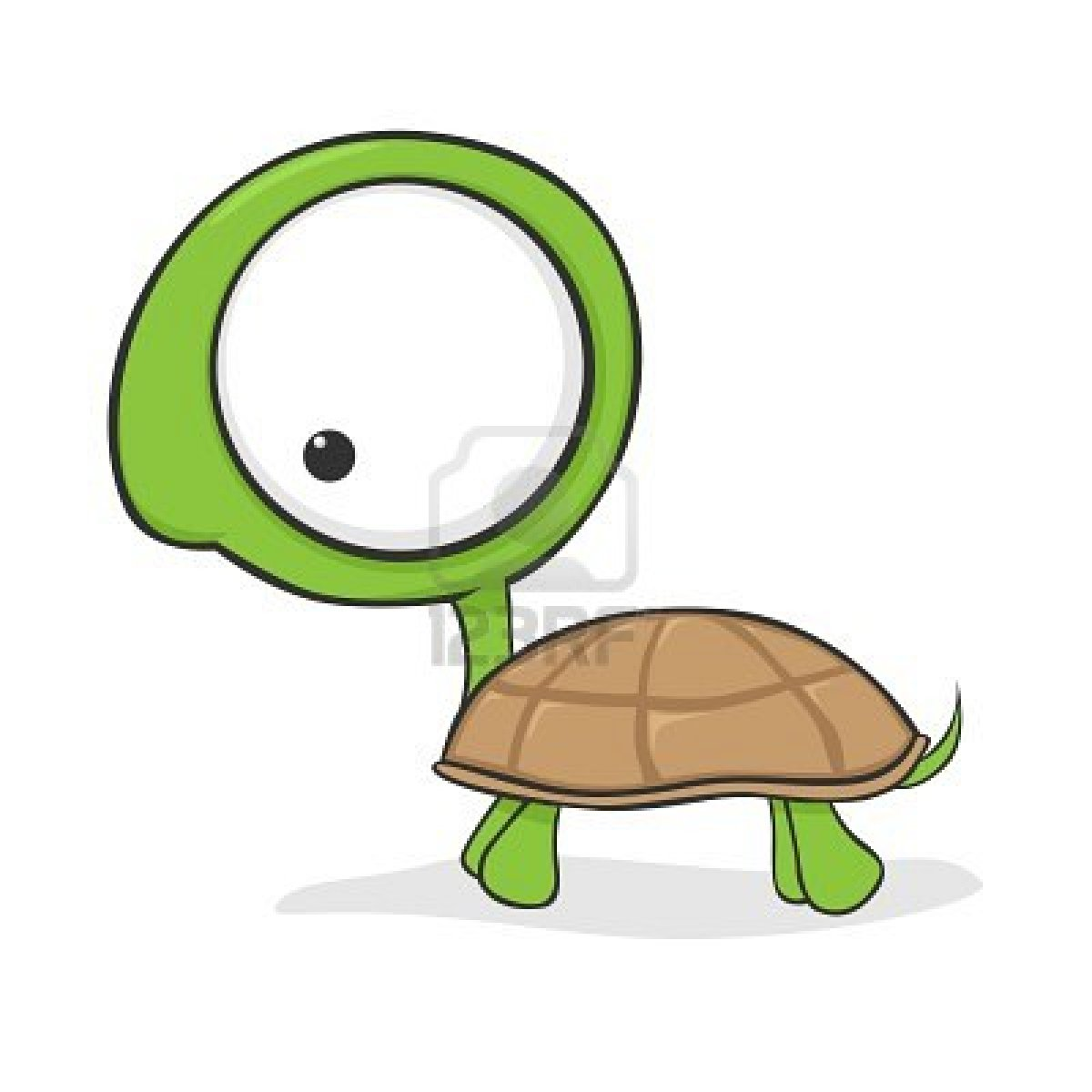 1200x1200 Cute Cartoon Turtle With Huge Eyes Stock Photo Illustrations