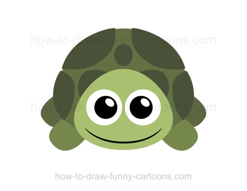 500x386 How To Draw A Turtle