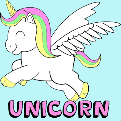 400x400 How To Draw Cute Chibi Cartoon Unicorns With Easy Step By Step