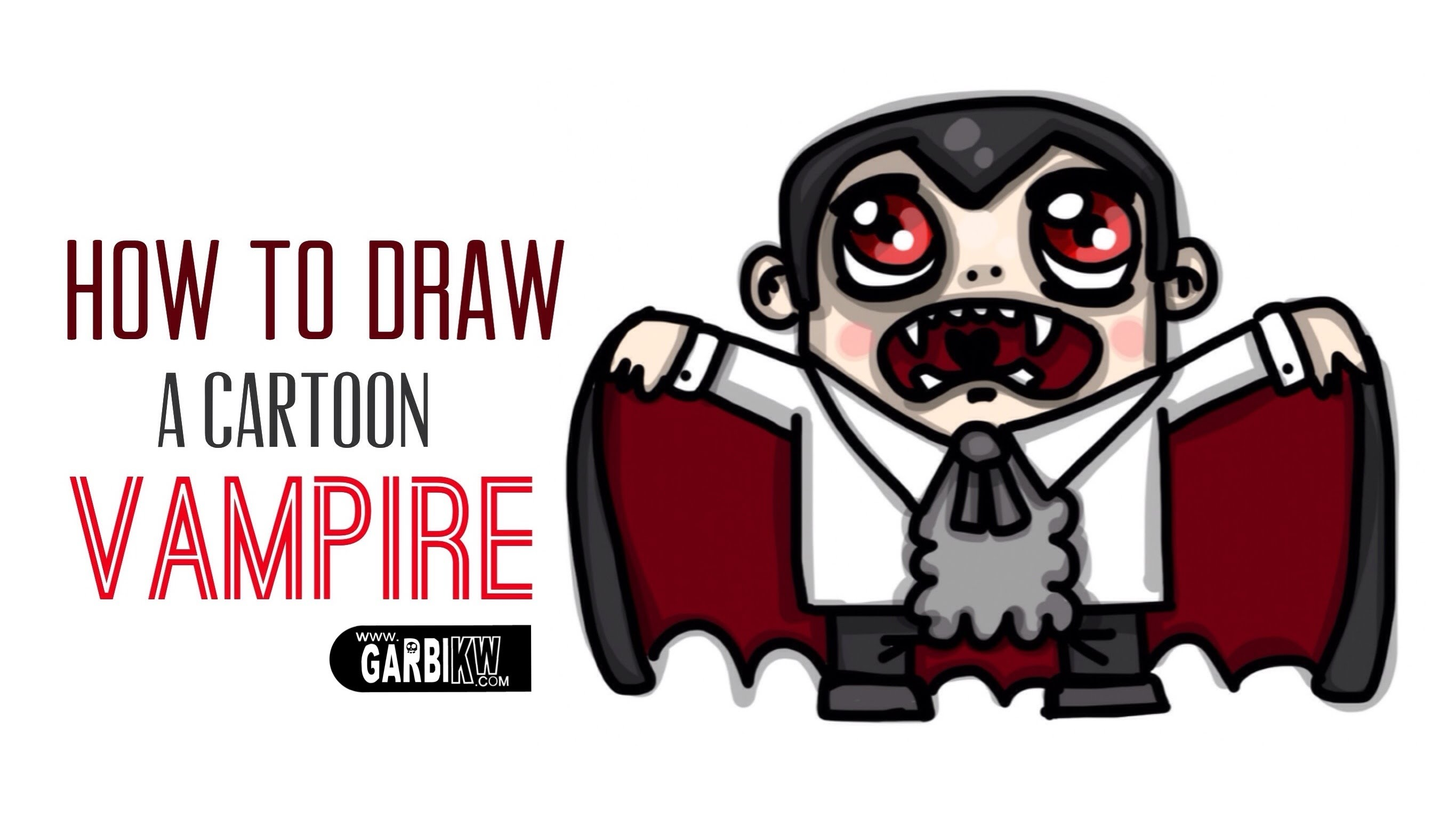 2731x1536 How To Draw A Cartoon Vampire By Garbi Kw