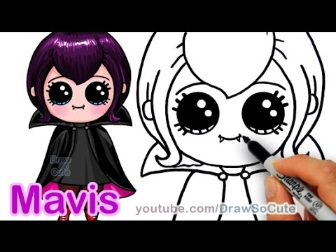 480x360 How To Draw Mavis Hotel Transylvania Vampire Girl Cute Step By