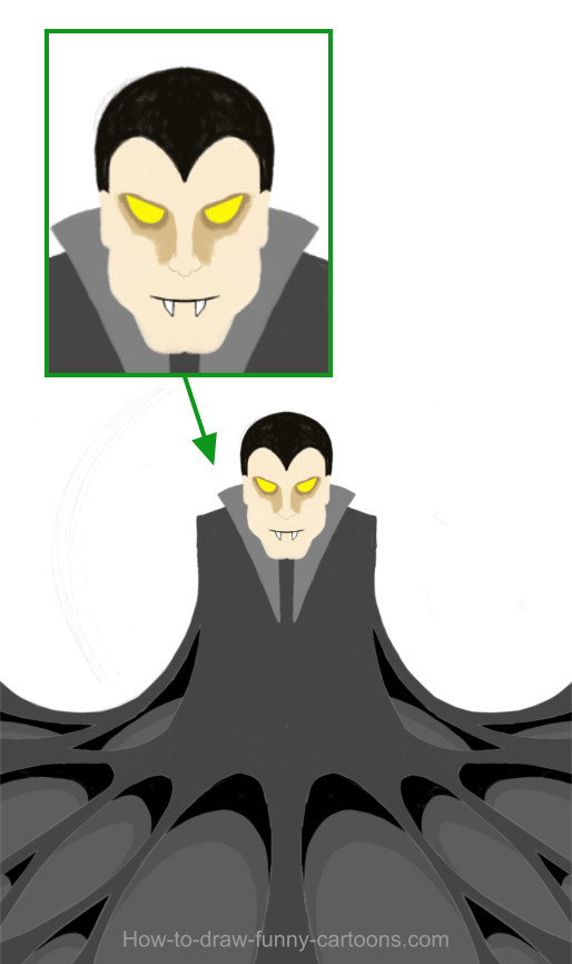514x866 Vampire Drawing (Cartoon Painting)