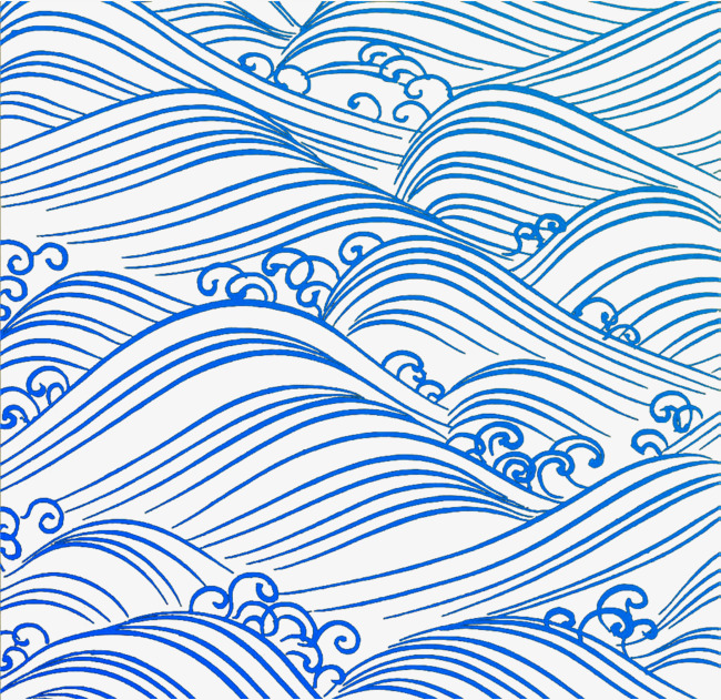 650x631 Blue Wave, Sea Wave, Blue, Cartoon Hand Drawing Png Image