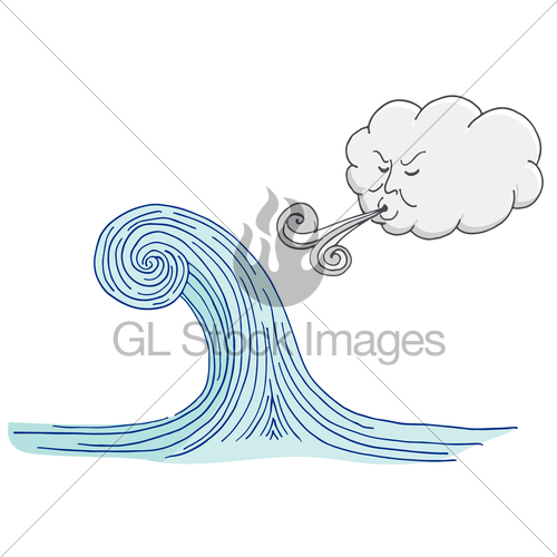 500x500 Cloud Blowing Windy Tidal Wave Cartoon Gl Stock Images
