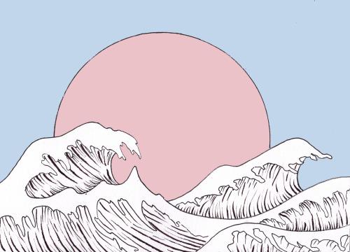 500x360 Waves Drawing Tumblr