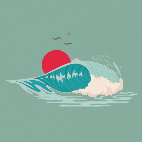 600x600 Ocean Wave Cartoon Free Vector Download (18,711 Free Vector)