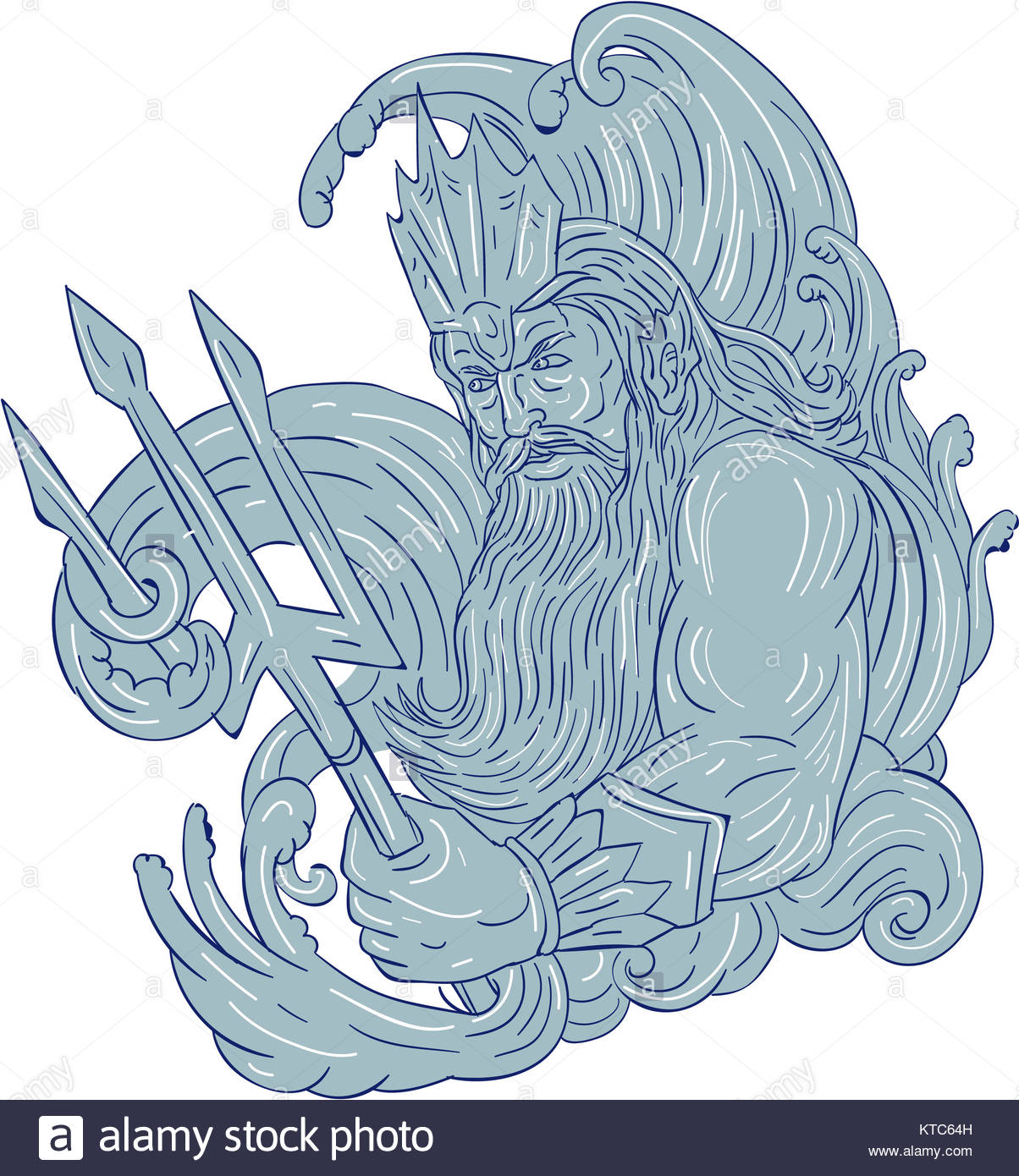 It's just a photo of Challenger Drawing Of Poseidon