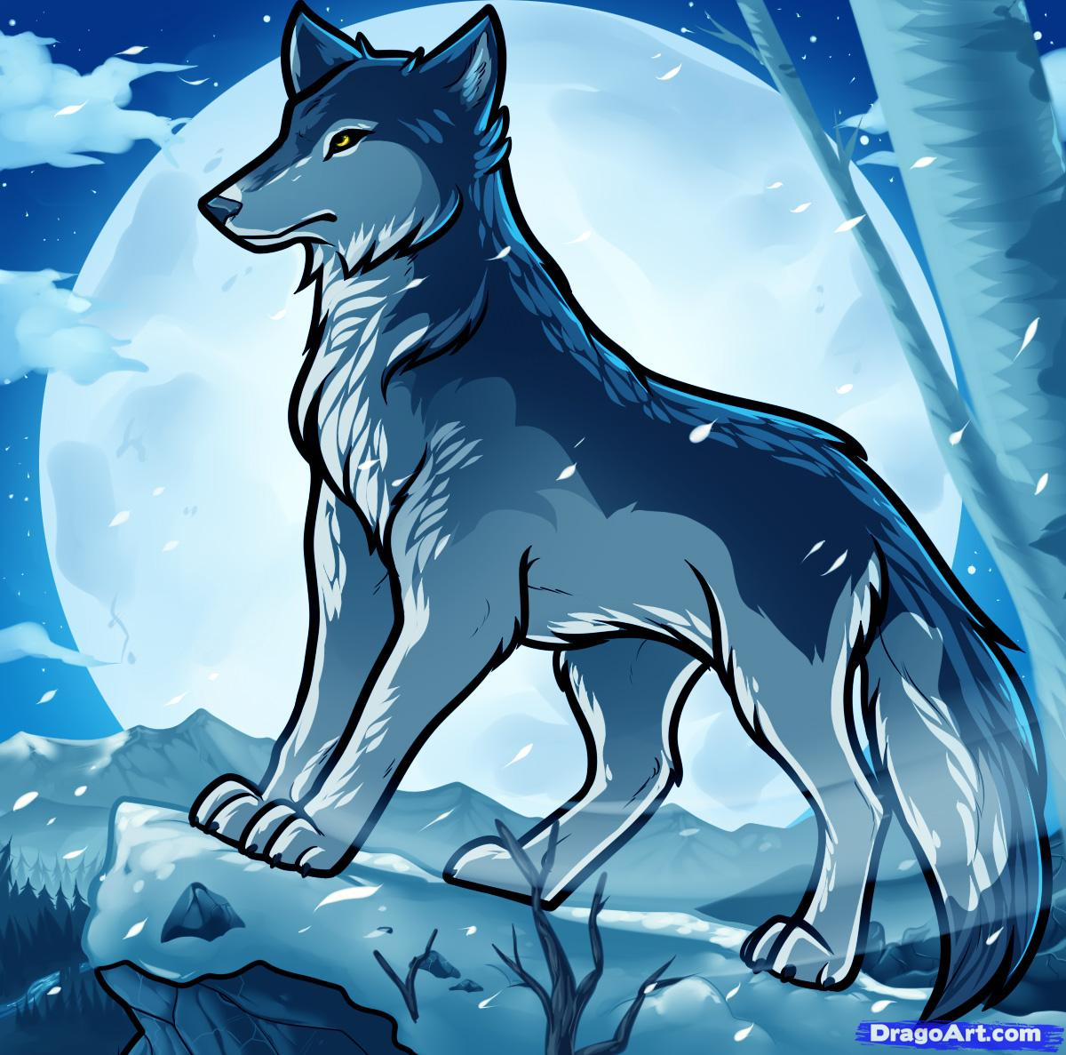 1200x1187 Cartoon Wolf Drawing How To Draw Anime Wolves, Anime Wolves, Step