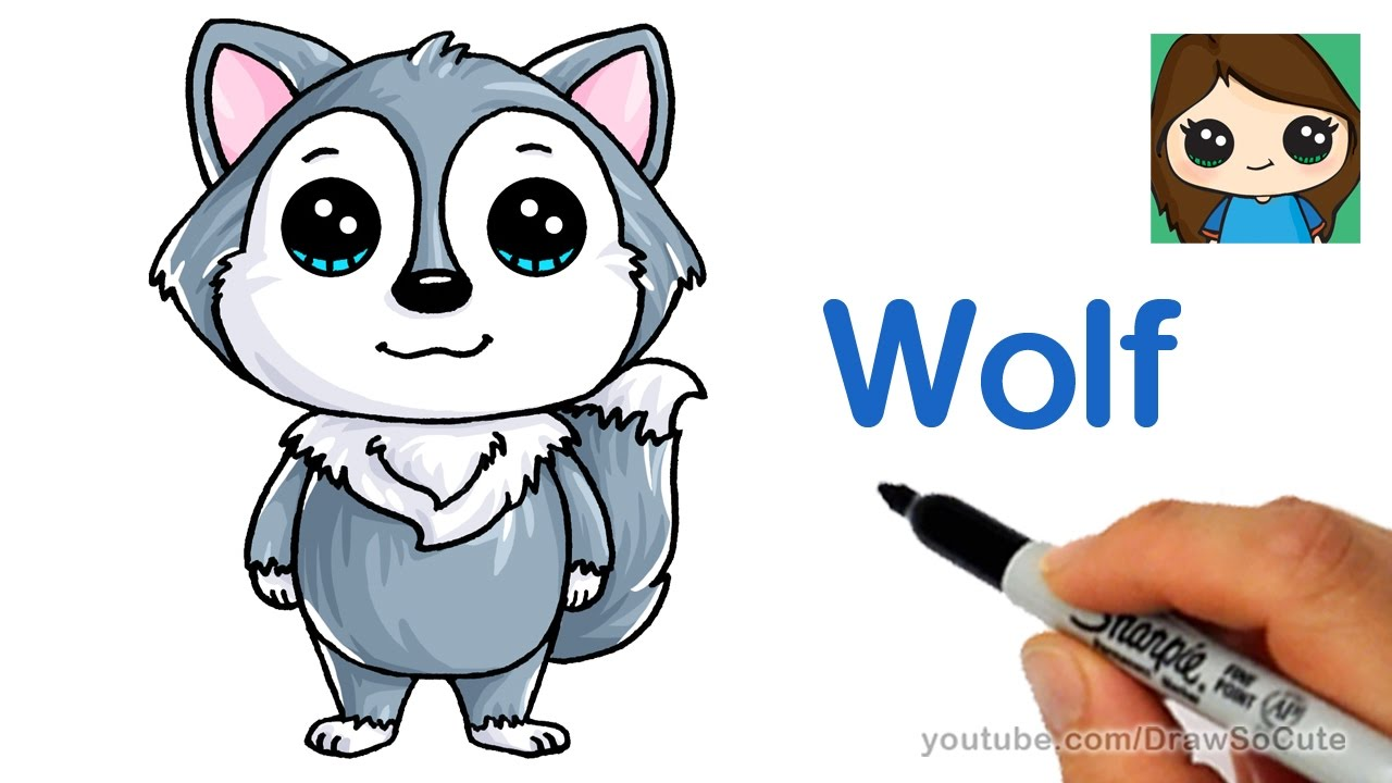1280x720 How To Draw A Cartoon Wolf Easy