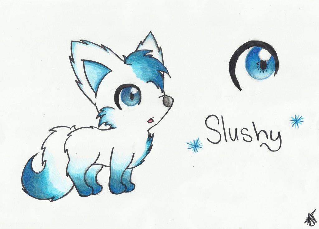 1024x735 Slushy The Snow Wolf By Hazelnut Nebula