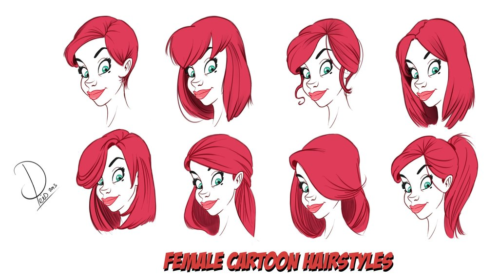 1024x574 How To Draw Cartoon Female Hair By Toonboxstudio