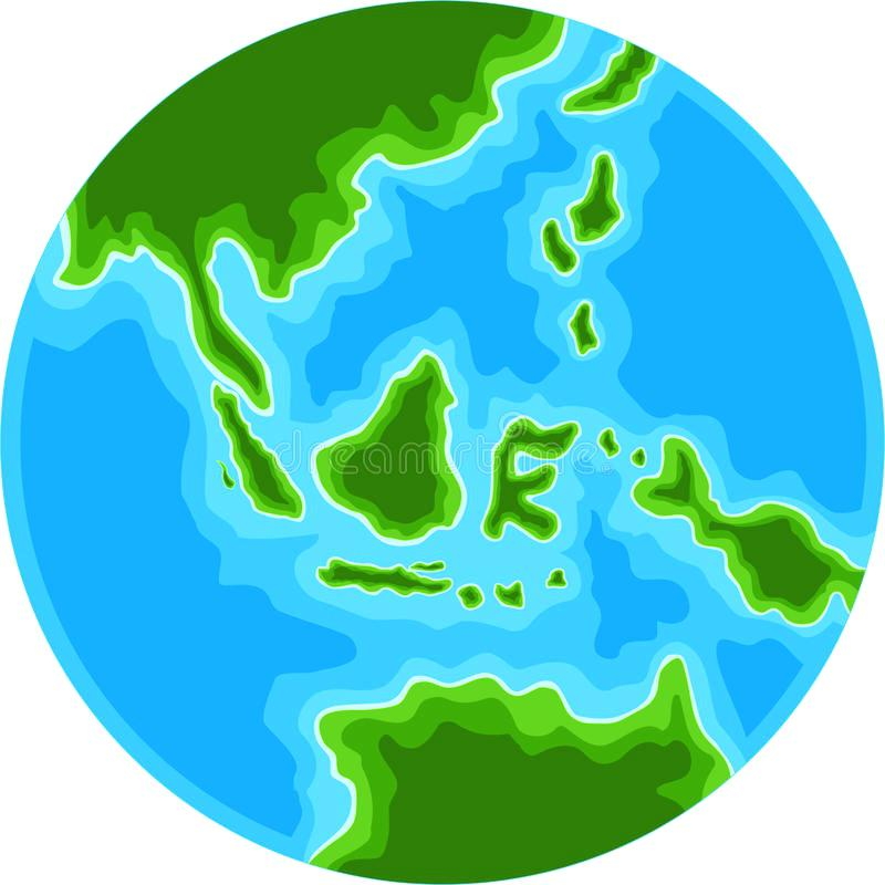 800x800 Cute Globe Postcard With Cute Cartoon Earth Globe Vector
