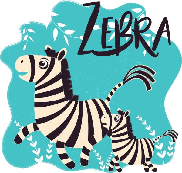 600x573 Zebra Drawing Cute Cartoon Design Free Vector In Adobe Illustrator