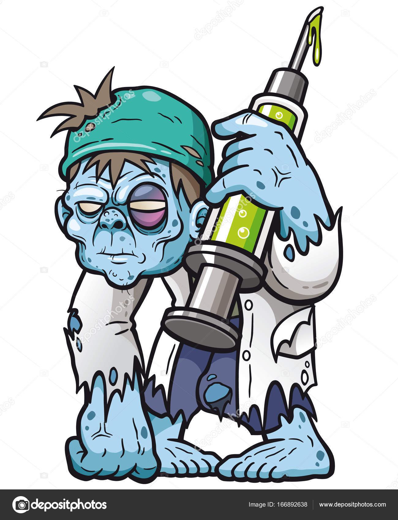 1300x1700 Cartoon Zombie Doctor Stock Vector Sararoom