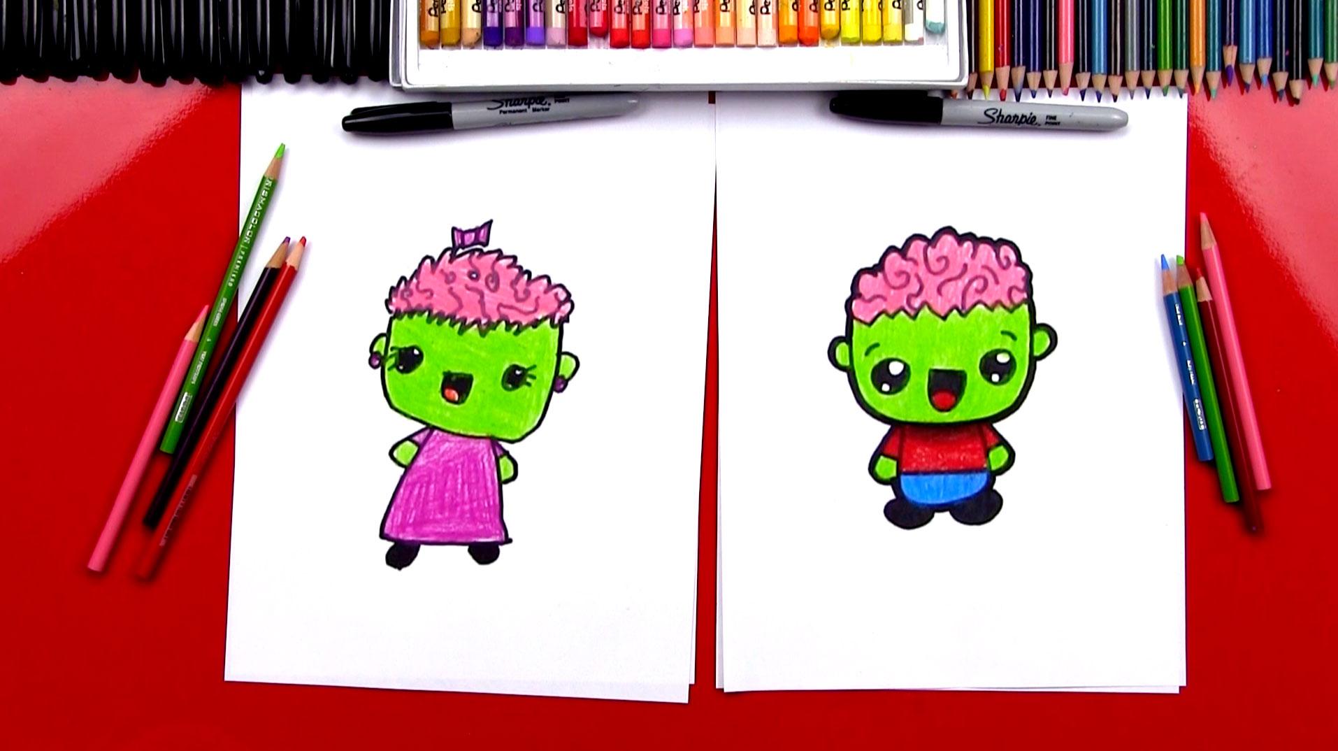 1914x1074 How To Draw A Cartoon Zombie