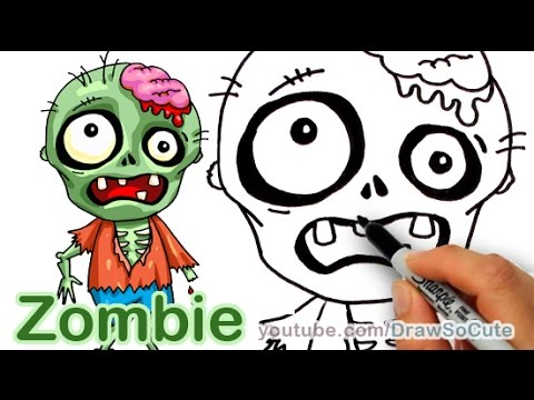 480x360 How To Draw A Zombie Easy