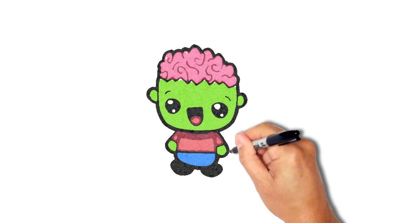 1280x720 How To Draw A Zombie