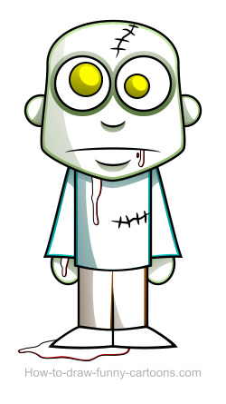 250x445 Zombie Drawings (Sketching + Vector)