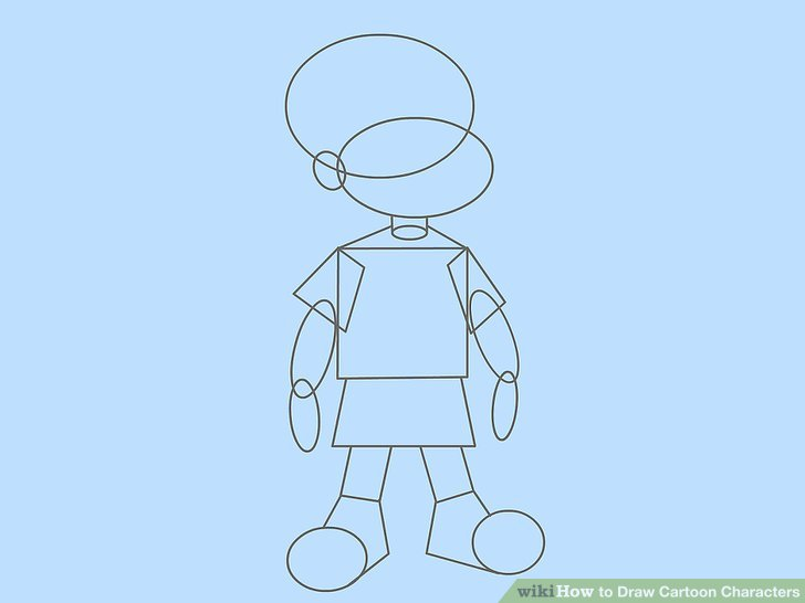 728x546 4 Ways To Draw Basic Cartoon Characters Step By Step