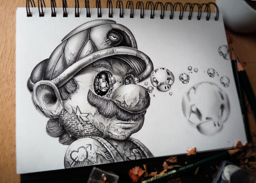 880x629 French Designer Distroy Remakes The Pencil Drawings Of Cartoon