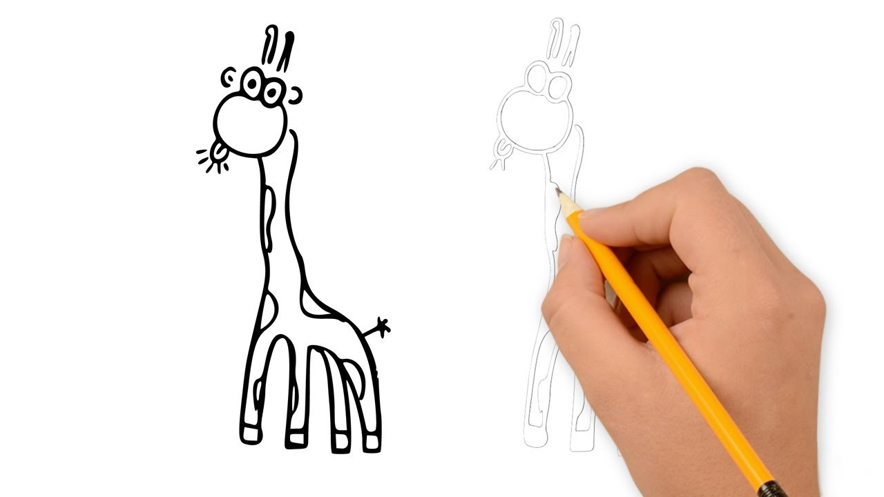 1280x720 How To Draw A Funny Giraffe