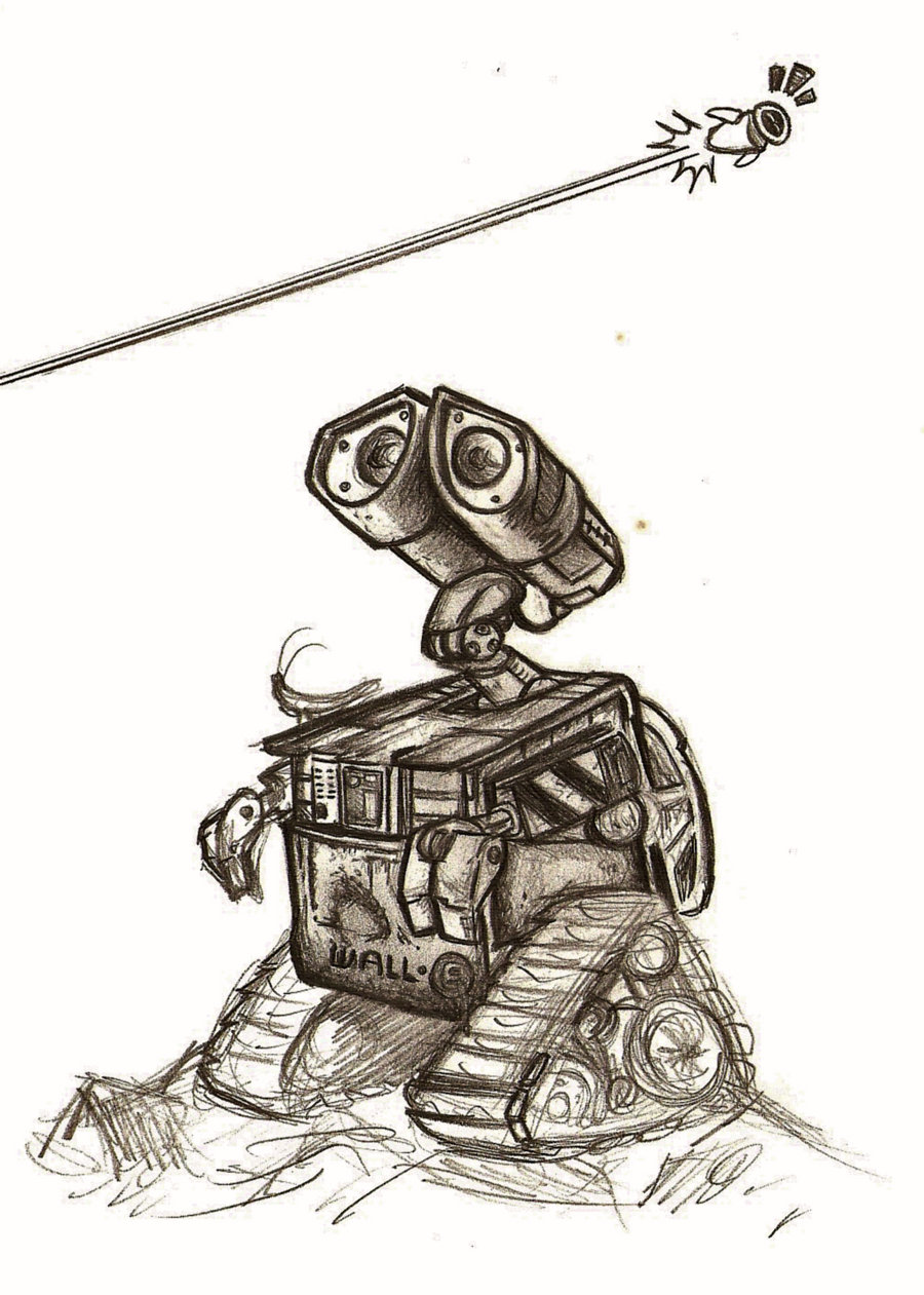 900x1261 Wall E Pencil Sketch By Laura32