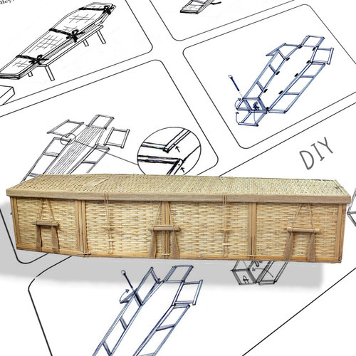 500x500 Diy Assembly Biodegradable 6 Point Coffin For Burial Or Cremation