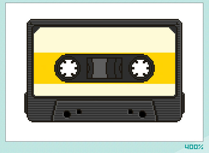 698x509 Photoshop Drawing Learn To Draw A Cassette Pixel Graphic Tutorial