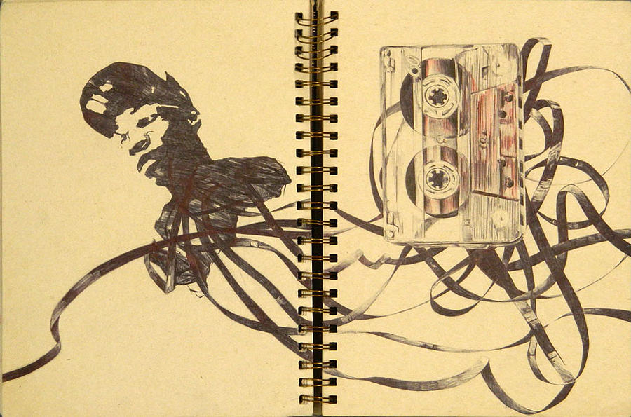 900x595 Tape Drawing By Markelle Abraham