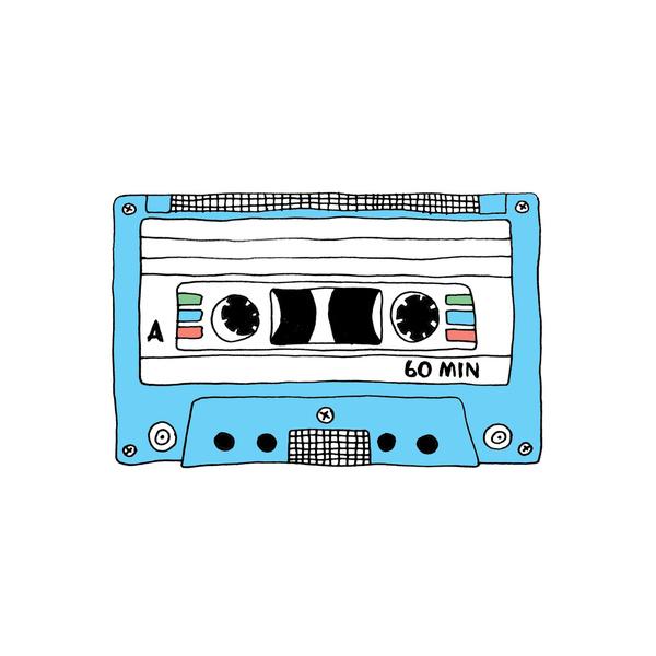 600x600 Breakup Mix Tape T Shirts Retro Blue Cassette Tape Mix Tape