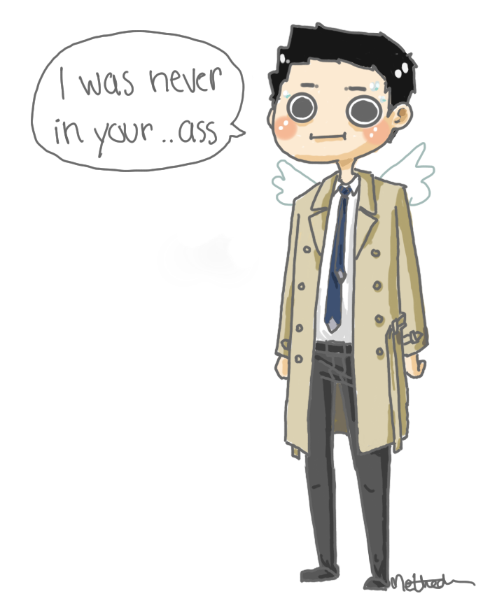 720x872 Castiel By Methedon