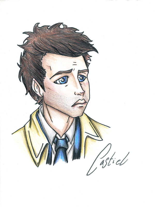600x800 Castiel Cartoon By Idigoddpairings