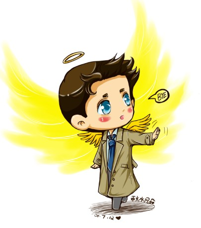405x459 Chibi Castiel Comics Spn Castiel Bye By ~autumn Water