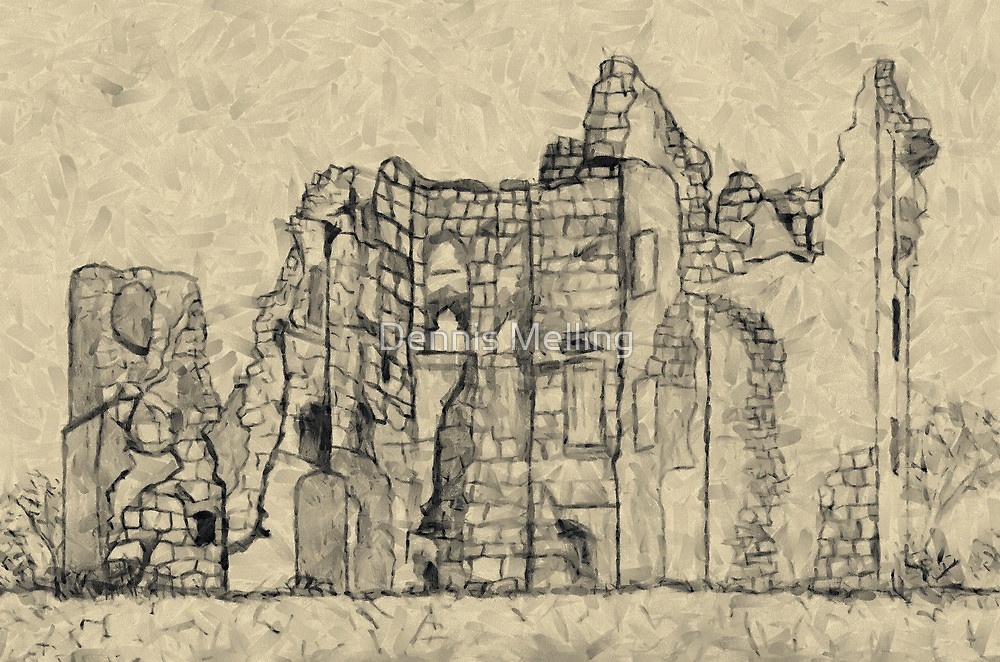 1000x662 A Digital Painting Of My Pencil Sketch Of Old Wardour Castle By