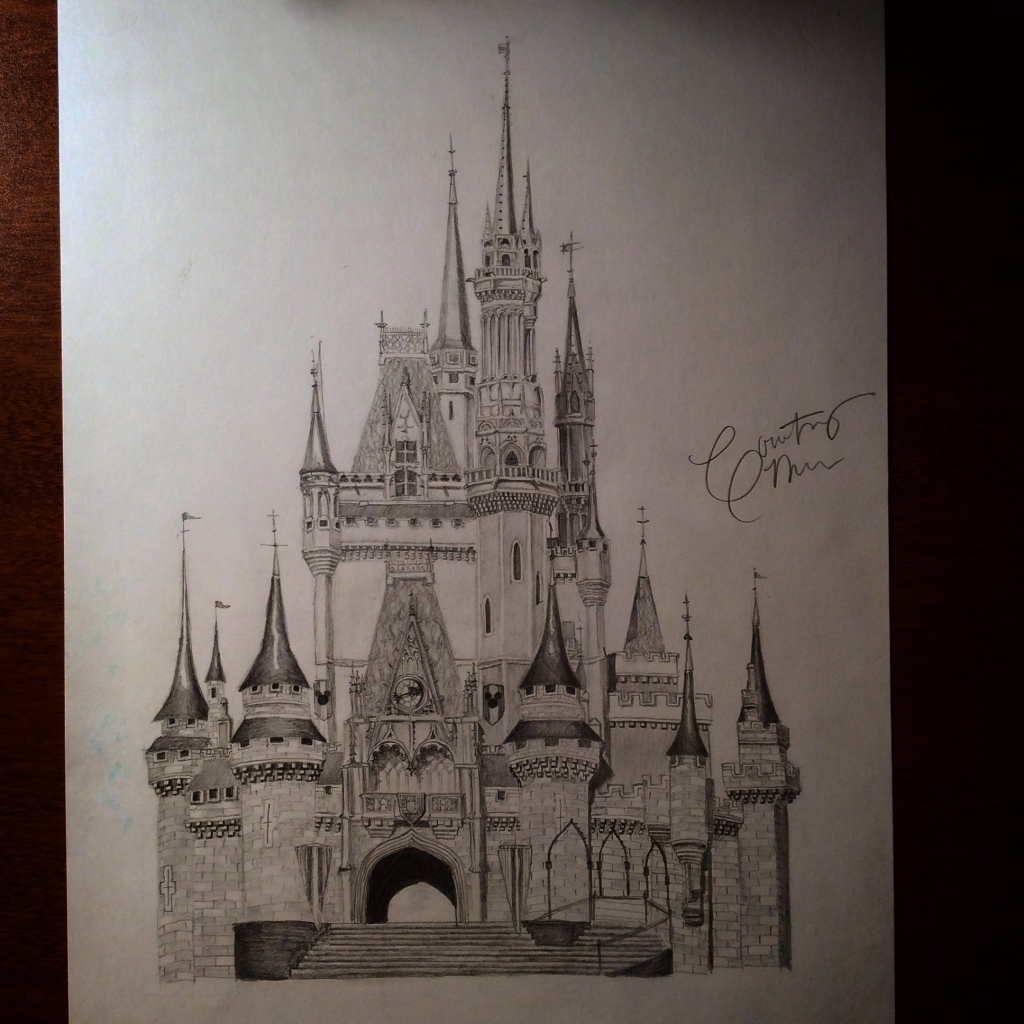1024x1024 Castle Pencil Drawings Pencil Drawings Courtney Myers Art