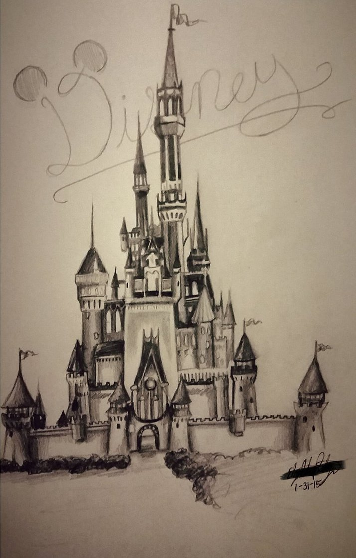 714x1118 Disney Castle By Child Of God