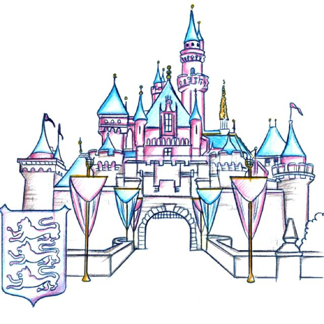 640x640 Castle Drawing Easy Drawing Of The Castle About Disney Castle